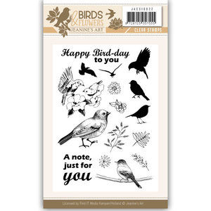 JACS10022 Clearstamp - Jeanine's Art - Birds and Flowers