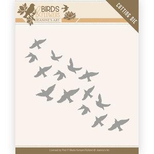 JAD10061 Dies - Jeanine's Art - Birds and Flowers - Flock of Birds 9,8x4,7cm