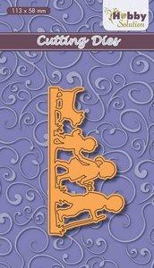 Nellies Choice Hobby solution Die Children wandelende kinderen HSFD034 113x58 mm