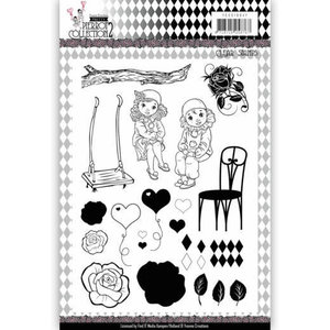 YCCS10047 Clear Stamps - Yvonne Creations- Pretty Pierrot 2