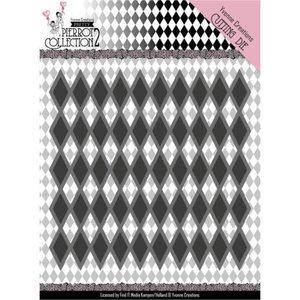 YCD10161 Dies - Yvonne Creations- Pretty Pierrot 2 - Diamond Pattern -5,5x9,5cm
