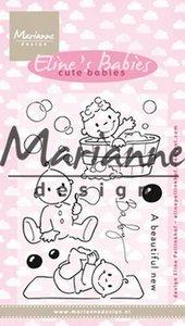 Marianne Design Clear stamp Eline's Cute Babies EC0176 18x10 cm