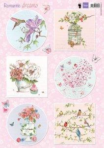 Marianne Design 3D Knipvellen Romantic Dreams - roze EWK1264 A4