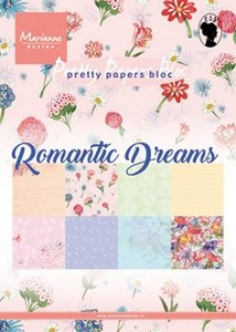 Marianne Design paperpad Romantic Dreams A5 PK9160