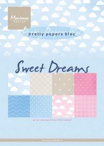 Marianne Design Paperpad Eline's Sweet dreams A5 PB7055
