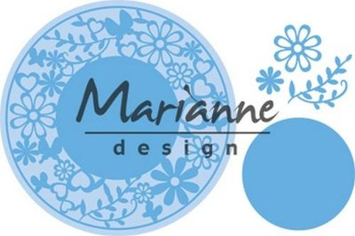 Marianne Design Creatable Flower Frame rond LR0574 16x18.5 cm