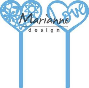 Marianne Design Creatable Hart pins (set van 2) LR0573 11x16 cm