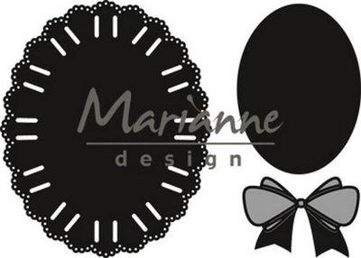 Marianne Design Craftable Oval ribbon die CR1458 12.5x18 cm