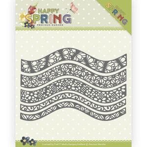 PM10146 Dies - Precious Marieke - Happy Spring - Happy Borders