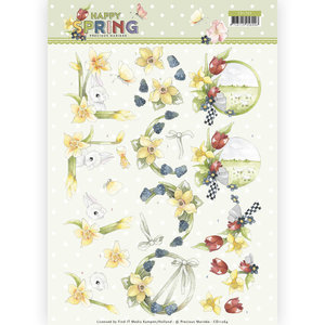 CD11264 3D Knipvel - Precious Marieke - Happy Spring - Happy Daffodils