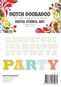 Dutch Doobadoo Dutch Stencil Art Alfabet 4 (120 mm) 470.990.112
