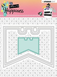 Studio Light Embossing Die 104x85 mm Create Happiness nr.154 STENCILCR154