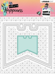 Studio Light Embossing Die 104x97 mm Create Happiness nr.153 STENCILCR153