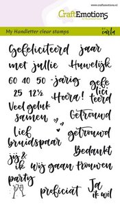 CraftEmotions clearstamps A6 - handletter - huwelijk (NL) Carla Kamphuis  130501/1831