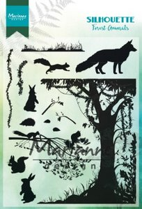 Marianne D Clear Stamps Silhouette bos dieren CS1021 1110x150mm