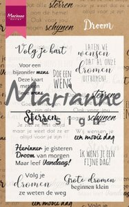 Marianne D Clear Stamps Droom teksten NL CS1019 194x140mm