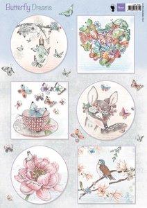 Marianne D 3D Knipvellen Butterfly Dreams EWK1267 A4