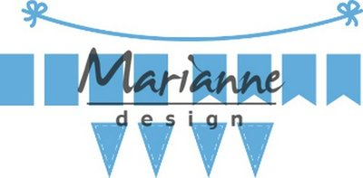 Marianne D Creatable Bunting Banners LR0581 103x12,5mm