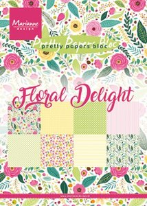 Marianne Design Paperpad Floral Delight A5 PK9161
