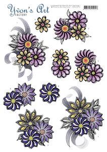 CD11271 3D Knipvel - Yvon's Art - Flower Corsage