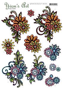 CD11270 3D Knipvel - Yvon's Art - Flower Design