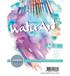 Water Art – Aquarel Papier 20 sheets / A6 / 300 grs