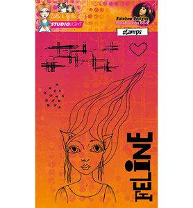 StudioLight – Stamp A5 – Mixed Media Rainbow Designs nr.02