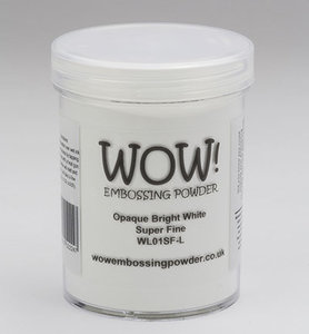 WL01SFL – Wow! – Embossing Powder – Opaque Bright White - Super Fine (Large Jar 160ml)