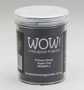 WH00SFL – Wow! – Embossing Powder – Primary Ebony - Super Fine (Large Jar 160ml)