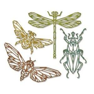 Sizzix Thinlits Die Set - 4PK Geo Insects 664180 Tim Holtz