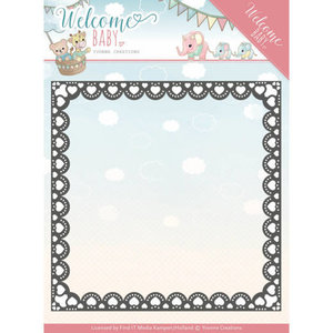 YCD10153 Dies - Yvonne Creations- Welcome Baby - Heart Frame