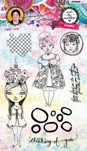 Studio Light Stamp Girlie Style Art By Marlene 3.0 nr.37 STAMPBM37