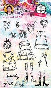 Studio Light Stamp Girl Boss Art By Marlene 3.0 nr.36 STAMPBM36