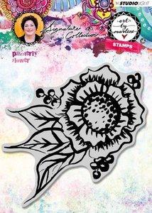 Studio Light Cling Stamp Painterly Flower Art By Marlene 3.0 nr.32 STAMPBM32