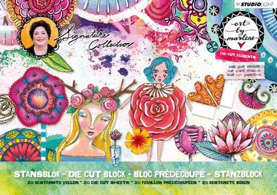 Studio Light Stansblok A5 20 vel Art By Marlene 3.0 nr.03 A5STANSBLOKBM03