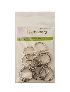 CraftEmotions Klik ringen / boekbindersringen 32mm 12 st.