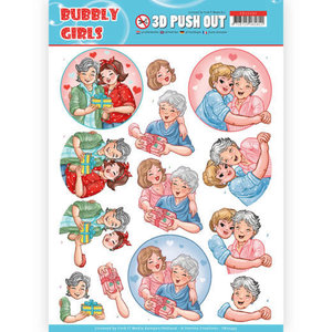 SB10345 3D Pushout - Yvonne Creations- Bubbly Girls - Mothersday