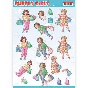 CD11307 3D Knipvel - Yvonne Creations- Bubbly Girls - Shopping