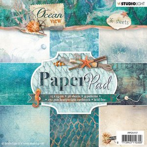 Studio Light Paper pad 36 vel Ocean View 3.0 nr 117 PPOV117