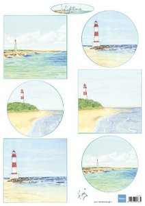 Marianne Design Decoupage Tiny's vuurtorens IT611 A4