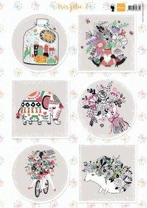 Marianne Design 3D Knipvellen Tres Jolie 2 EWK1269 A4