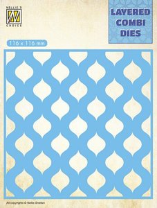 Nellie's Choice Layered Combi Die  druppels laag B LCDD002 116x116mm