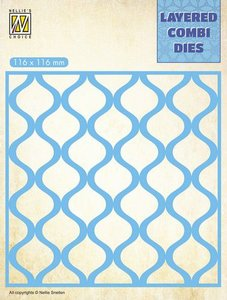 Nellie's Choice Layered Combi Die  druppels laag A LCDD001 116x116mm