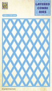 Nellie's Choice Layered Combi Die Lattice laag B LCDL002 106x150mm