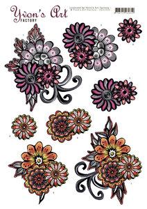 CD11310 Yvon's Art - Fantasy Flower Pink