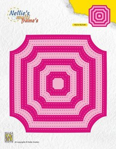 Nellies Choice Multi Frame Die - Stiched cornerless squares MFD130 122x122mm