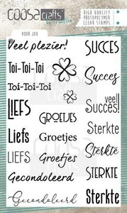COOSA Crafts clearstamps A6 - Voor jou (NL) COC-073