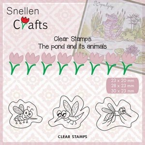 Nellies Choice Clearstempel - Pond Life - insecten CLP004 23x20mm/28x23mm/30x23mm