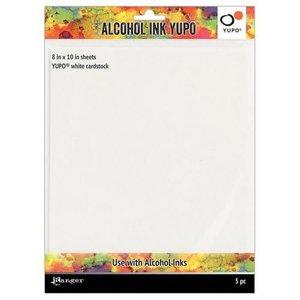 Ranger Alcohol Ink Yupo Paper 86 Lbs.8x10- Wit 5 vel TAC63346