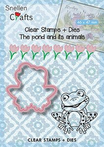Nellies Choice Stamps & Dies The pond - kikker SNCCS001 46x47mm